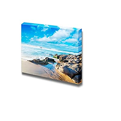 Canvas Prints Wall Art - Beautiful Scenery/Landscape in Castelsardo, Sardinia Nature Beauty | Modern Wall Decor/Home Decoration Stretched Gallery Canvas Wrap Giclee Print & Ready to Hang - 24
