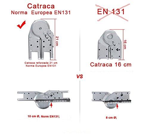 5+5 Hecho en Europa Nawa Escalera Telesc/ópica Multiuso Plegable Profesional de Aluminio Perfecta para realizar trabajos en desnivel Carga m/áxima 150 kg