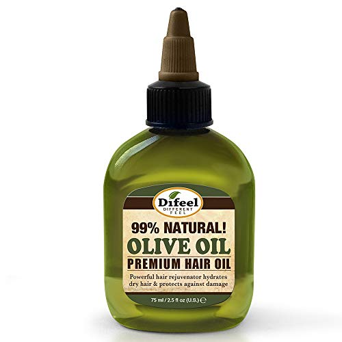 Extra Virgin Oil Hair Olive Treatment (Difeel Premium Natural Hair Oil - Olive Oil 2.5 oz. (6-PACK) - for Extra Dry Hair, Rejuvenates Hair, Leaves Hair Softer & Manageable, Moisturizes Hair & Provides Protection From Dryness)