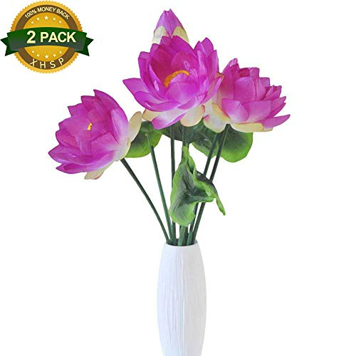 XHSP-2-Bouquets-Altitude-Artificial-Lotus-Flowers-Real-touch-Water-Lily-Home-Wedding-Party-Decor-Fabric-Flowers