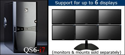 QuadStation 6-i7 Trader - 6 Display Computer for Trading (Trading Computer 6 Monitor)