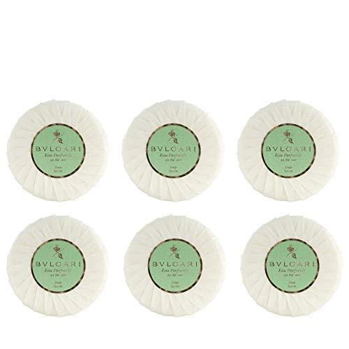 Bvlgari Au the Vert (Green Tea Soap) - 2.6oz/75 Grams Each - Set of 6 (Bath Vert)
