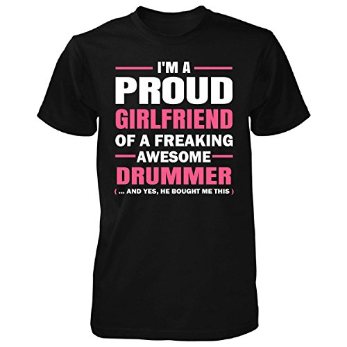 Proud Girlfriend Of A Drummer Cool Gift - Unisex Tshirt
