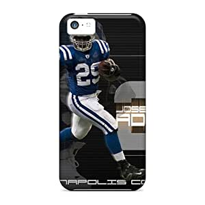 AlissaDubois Iphone 5c Perfect Cell-phone Hard Cover Support Personal Customs Lifelike Indianapolis Colts Pattern [TRp3566HAuV]