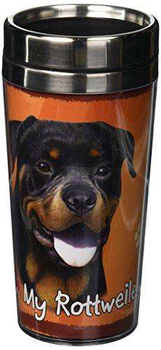 Breed Stainless Steel Travel Mug - E&S Pets Stainless Steel Rottweiler Tumbler, 16 oz
