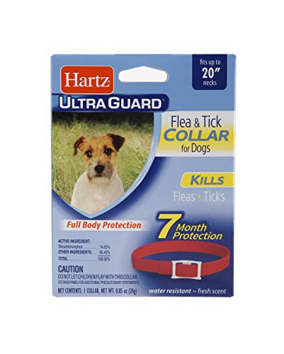 Hartz UltraGuard Red Flea & Tick Collar for Dogs and Puppies - 20