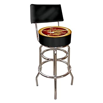 Image of Barstools Anheuser Busch Padded Swivel Bar Stool with Back