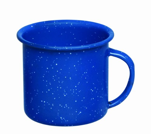 Cinsa 311357 Camp Ware Mug, 12-Ounce, Royal Speckled Blue