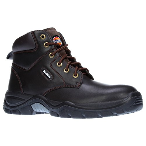 Dickies Mens Workwear Newark Safety Boot Brown FA9003BR Chestnut 1b8Tr