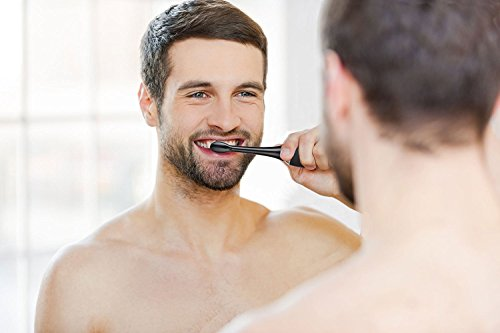 AquaSonic Black Series Ultra Whitening Toothbrush – ADA Accepted Rechargeable Toothbrush - 8 Brush Heads & Travel Case - Ultra Sonic Motor & Wireless Charging - 4 Modes w Smart Timer - Sonic Electric