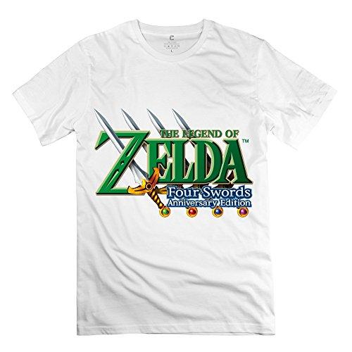 the-legend-of-zelda-joke-roundneck-white-shirts-for-guys-size-xs