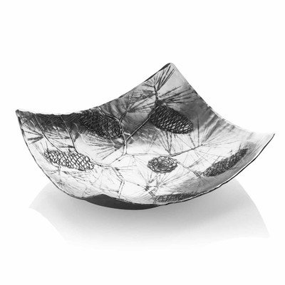 - Evergreen Design Square Sonoma Bowl, Beautiful Winter Décor, Handmade in the USA by Wendell August Forge