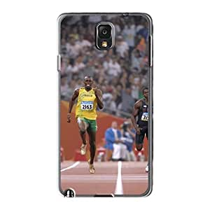 High Quality Hard Phone Case For Samsung Galaxy Note 3 (LLc1110flAz) Customized Attractive Olympics 2012 Usain Bolt Racing Pictures