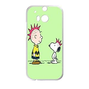 HTC One M8 Cell Phone Case White Snoopy jwfs