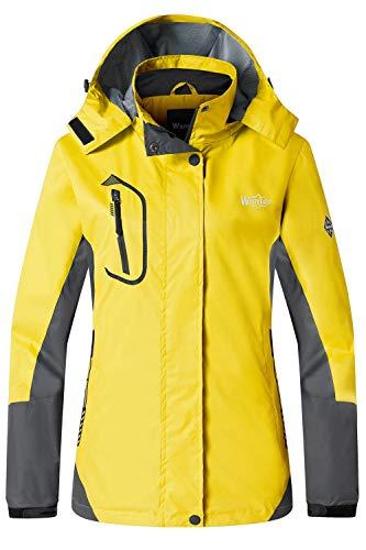 Wantdo Women's Mountain Jacket Athletic Coat Sportswear Outerwear Yellow L