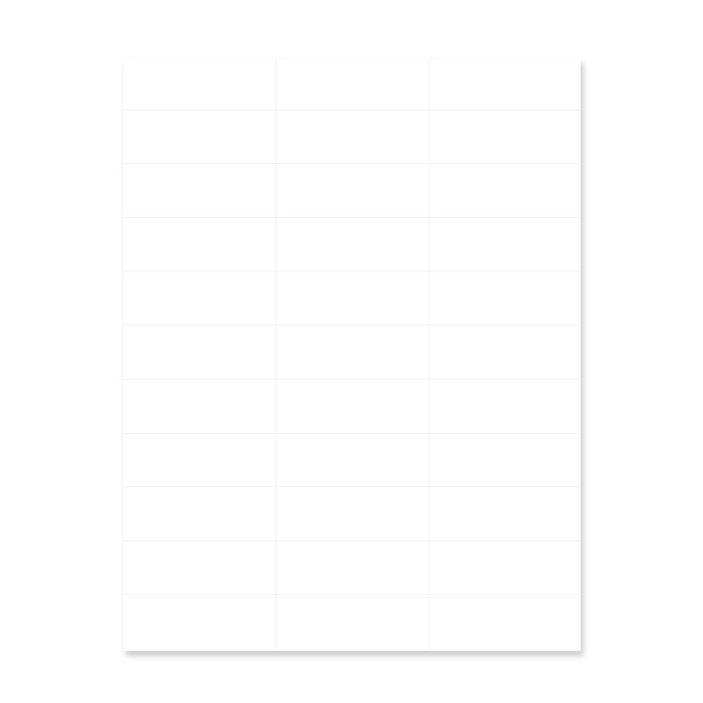 PDC Healthcare WBW77 Chart Labels Laser, Portrait, 2-27/32'' x 1'', 33 Labels per Sheet, White, 4 Packs of 250 Sheets per Case (Pack of 1000)