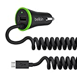 Belkin Boost Up Car Charger with 4-Foot Coiled Micro USB Cable (17 Watt / 3.4 Amp)