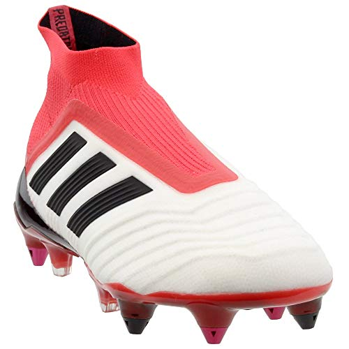 adidas Mens Predator 18+ Soft Ground Soccer Athletic Cleats White ()
