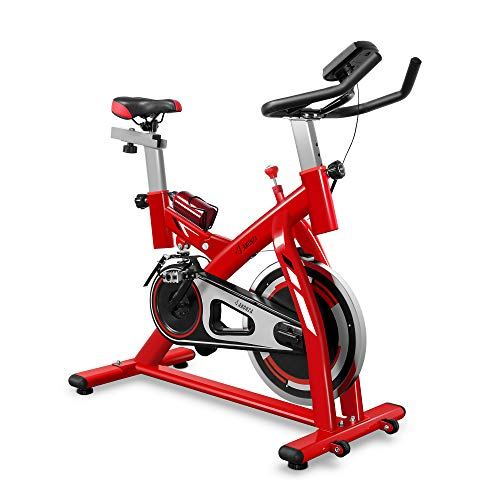 Akonza Indoor Cycling Bike 40 LB Flywheel Belt Drive Exercise Stationary LCD Display for Home Cardio Workout Training