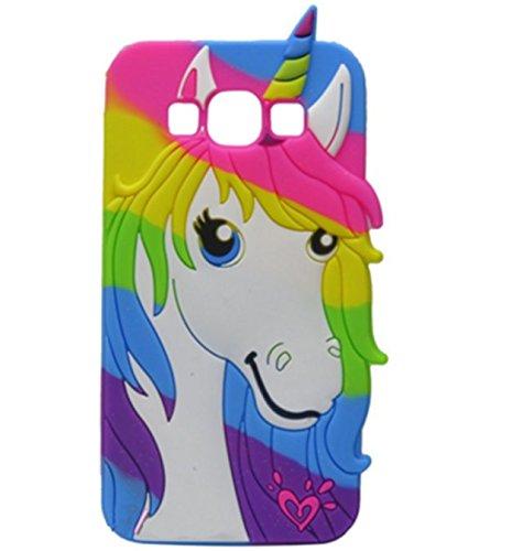 8e3f79d6ca514 Galaxy Grand Prime 3D Cartoon Silicone Case,Fashion Unicorn Colorful Pony  Horse Phone Bag Soft Rubber Cover for Samsung Galaxy Grand Prime G5308W ...