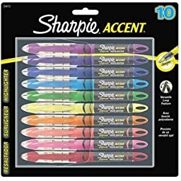 SAN24415PP - Sharpie Accent Liquid Pen Style Highlighter (4-Pack)