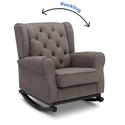41G3viyEEzL - Delta Children Emma Upholstered Rocking Chair, Graphite