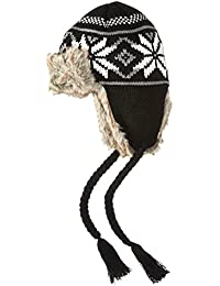Women's Knit Trapper Hat With Faux Fur and Tassels