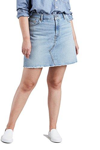 (Levi's Women's Plus-Size Deconstructed Skirts, Honeyed Indigo 42 (US 22))