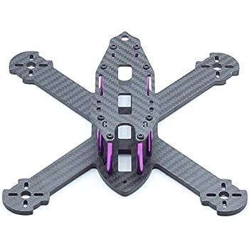 """Usmile 210mm 4mm thickness X style Carbon Fiber Quadcopter Frame Kit Mini quad fpv quad quadcopter like QAV-X 210 QAV-X 250 suit for 1806 2204 brushless motor 5"""" props HS117 RunCam Swift"""