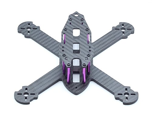 "usmile 210mm 4mm thickness X style Carbon Fiber Quadcopter Frame Kit Mini quad fpv quad quadcopter like QAV-X 210 QAV-X 250 suit for 1806 2204 brushless motor 5"" props HS117 RunCam Swift"