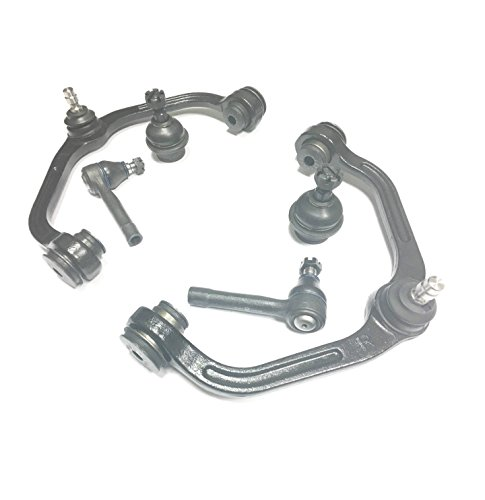 PartsW 6 Piece Kit Upper Control Arm, Lower Ball Joint And Outer Tie Rod 2WD/Coil Spring vehicles only (B2300 2wd Mazda)