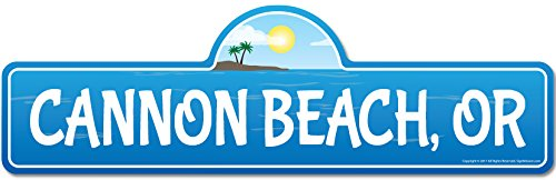 Cannon, OR Oregon Beach Street Sign | Indoor/Outdoor |Surfer, Ocean Lover, Décor For Beach House, Garages, Living Rooms, Bedroom | Signmission Personalized Gift