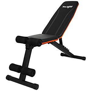 Yes4All Adjustable Weight Bench with Foldable Design for Full Body Workout