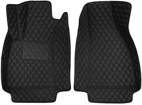 FH Group Custom-fit Heavy Duty Faux Leather Front Car Floor Mats fit 2016-2018 Audi A4 Sedan, Black Color