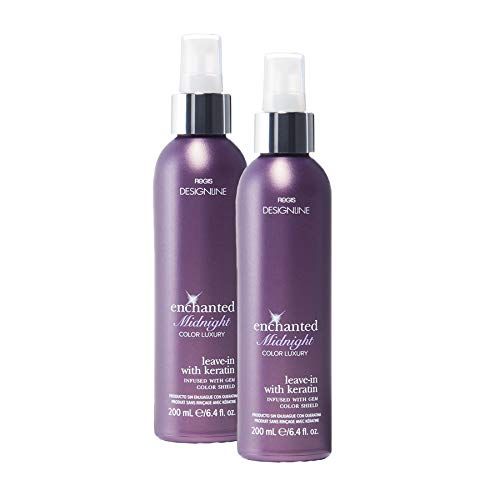 Enchanted Midnight Leave-In Conditioner, 6 oz - Regis DESIGNLINE - Hair Spray Treatment Fortified with Keratin to Restore Proteins Lost to Chemical and Environmental Damage (6 oz. (2 Pack))