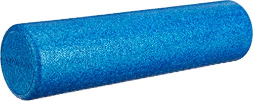 AmazonBasics High-Density Round Exercise Therapy Foam Roller - 24 Inches, Blue