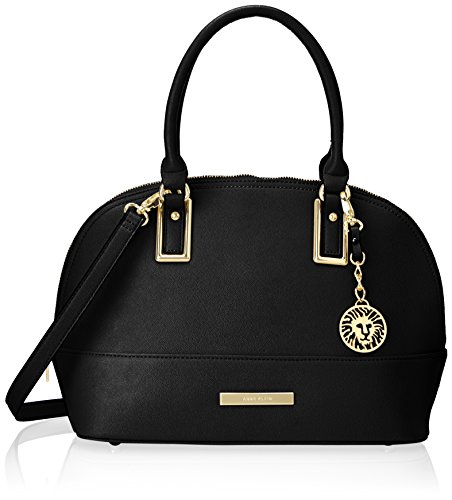 anne-klein-shimmer-down-dome-satchel-black-one-size