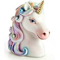 NEW Unicorn Head Money Box White Piggy Bank Kids Girls Gift Children's Baby Coin