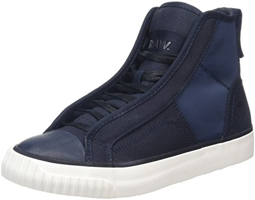 G-STAR RAW Women's Scuba Trainers, White Blue (Imperial Blue 1305)