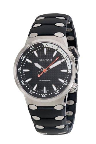 Sector R2621177055 - Reloj analógico automático para hombre con correa de caucho, color plateado: Amazon.es: Relojes