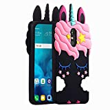 Joyleop Case for LG Stylo 4,LG Q Stylus/Stylus 4 Cartoon Soft Silicone Cute 3D Fun Cover,Kawaii Unique Kids Girls Gift,Animal Character Rubber Shockproof Protector for LG Stylo 4 Plus+ Black Unicorn
