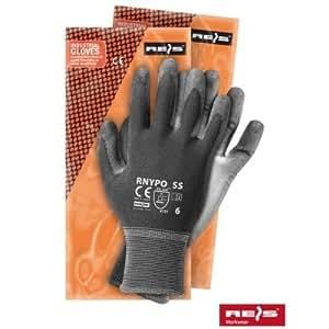 REIS - 10 pares - Guantes de protección / trabajo - nylon - RNYPO con poliuretano