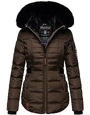 Navahoo Designer B844 Gewatteerde winterjas voor dames, gewatteerde winterjas