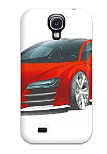 Galaxy S4 Case Bumper Tpu Skin Cover For Audi R8 Le Mans Red Drawing R Cars Audi Accessories