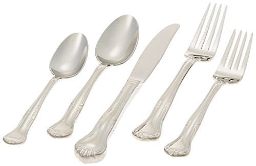 Gorham Silver Flatware Patterns - Gorham Valcourt Stainless Flatware 5 Piece Place Setting