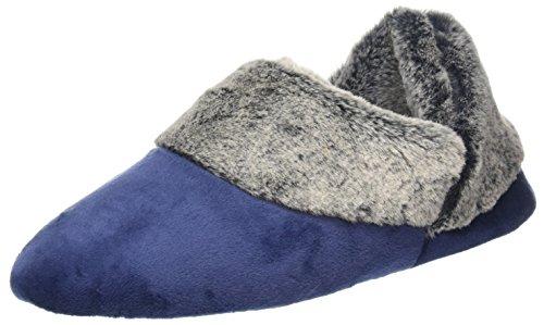 Dearfoams , Damen Hausschuhe braun Blau (Peacoat)