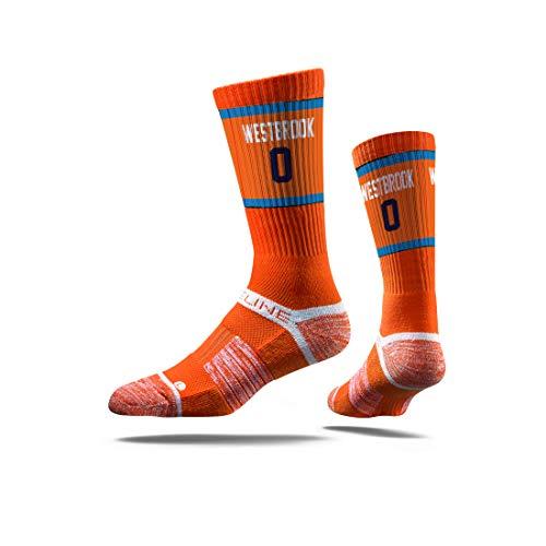 Strideline NBA Oklahoma City Thunder Russell Westrook Jersey Premium Athletic Crew Socks, One Size