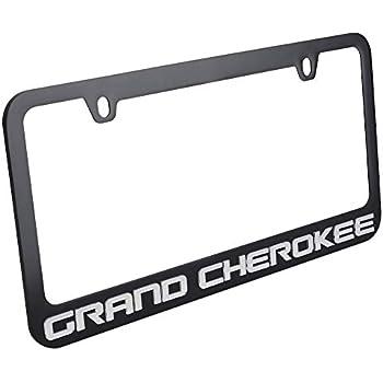 Black with Black Script Jeep Cherokee License Plate Frame