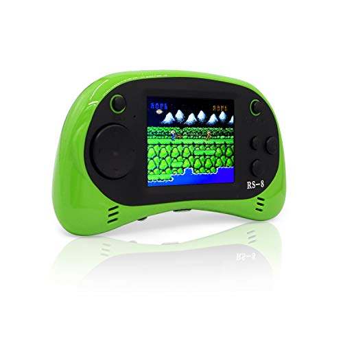E-MODS GAMING USB Charging Handheld Portable Arcade Video Gaming System with 260 Retro Games for Kids - Green -