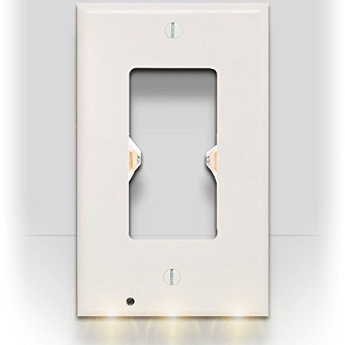 SnapPower Guidelight - Outlet Coverplate with LED Night Lights (Décor, White)